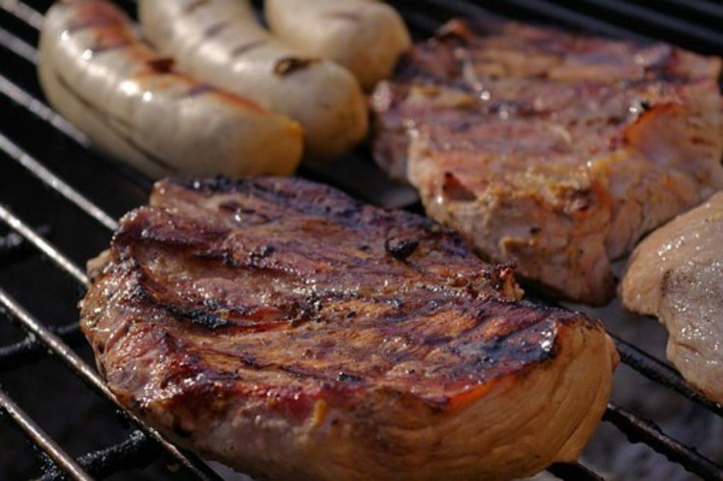 焼肉とウインナー