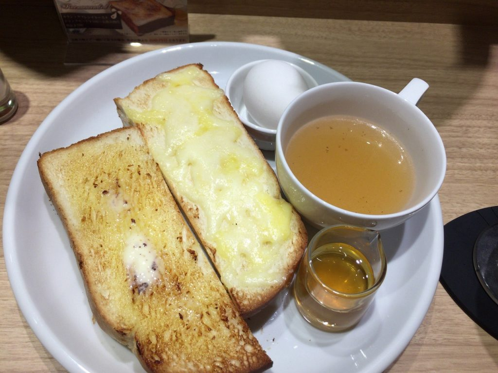 カフェルノアール モーニング トースト & チーズトースト