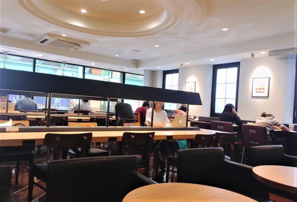 「エクセルシオールカフェ 吉祥寺サンロード店」2階の様子