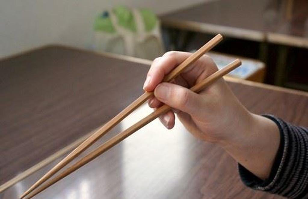 正しい箸の持ち方例
