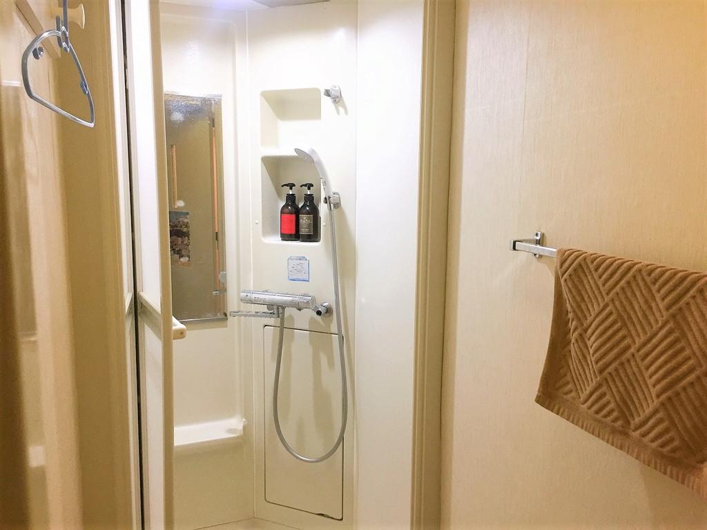 サクラホテル神保町のシャワー室内の様子