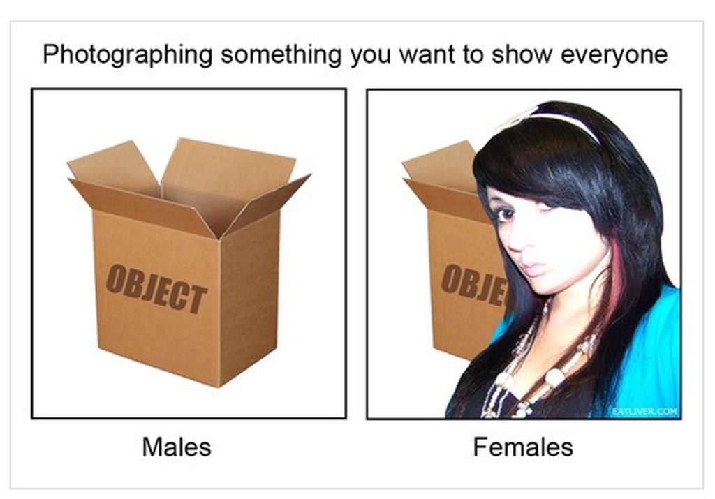 男女の写真を撮るときの違い