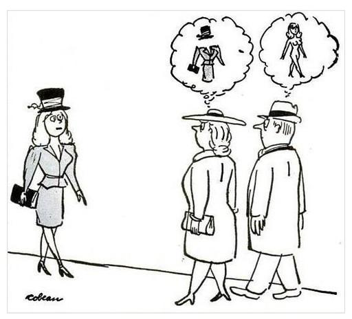 男女の女性を見たときの見る者の違い
