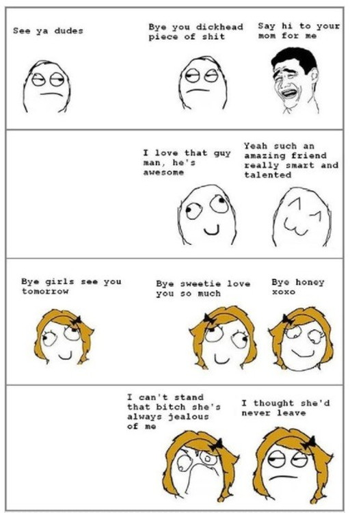 男女の悪口を言うタイミングの違い