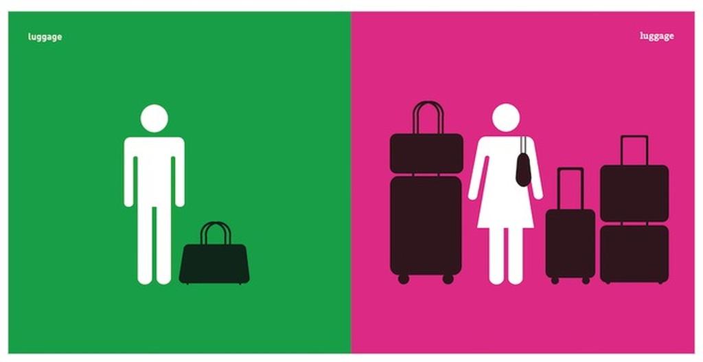 男女の旅行に行くときの荷物の違い