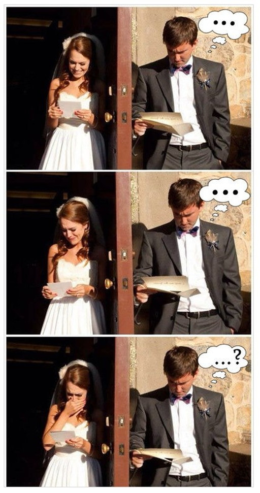 男女の結婚式の両親の手紙を読んだ時の違い